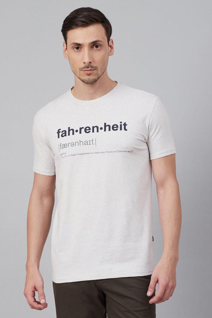 Fahrenheit Round Neck With Fahrenheit Print White