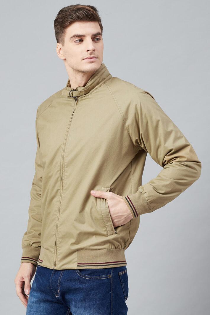 Fahrenheit Solid Cotton Jacket Beige