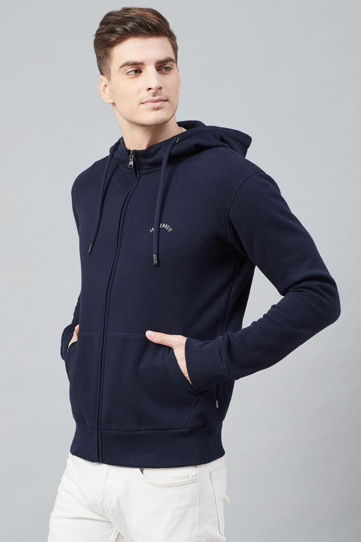 Fahrenheit Hooded Fleece Sweatshirt Navy Blue