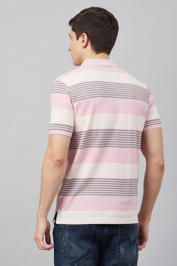 Fahrenheit Multi Stripe Polo Shirt