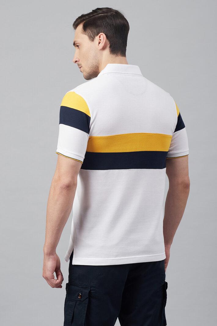 Fahrenheit Chest Stripe Colourblock Polo Shirt
