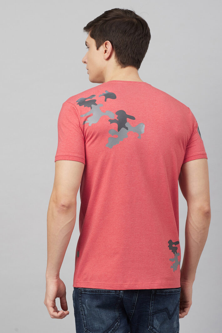 Fahrenheit Round Neck With Camouflage Print
