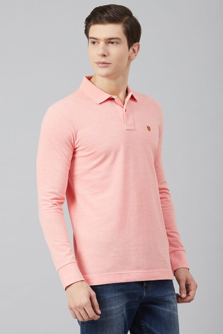 Fahrenheit Solid Pique Polo Pink