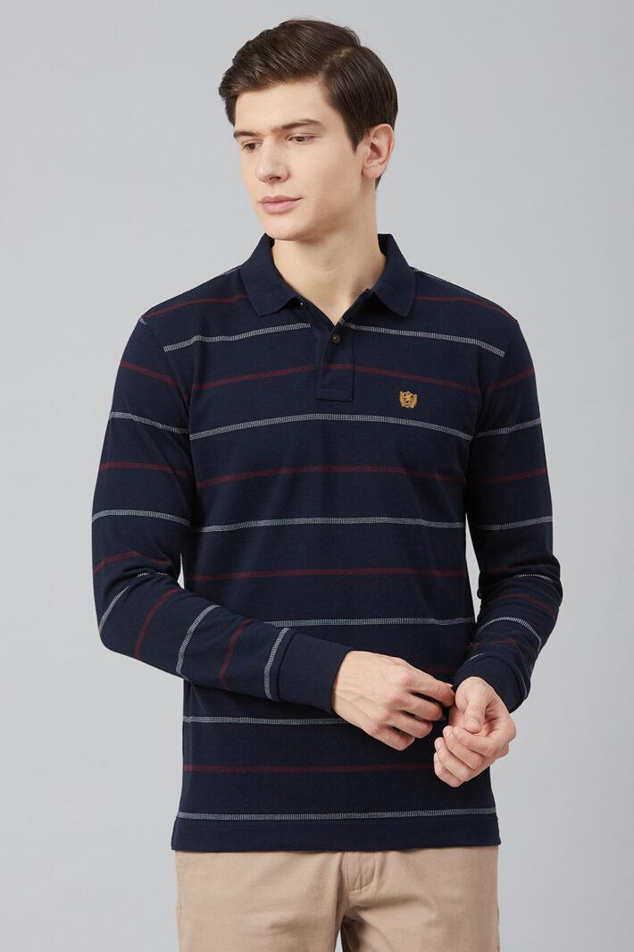 Fahrenheit Jacquard Stripe Polo