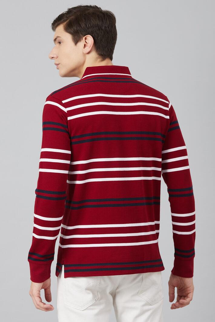 Fahrenheit Multicolour Stripe Polo
