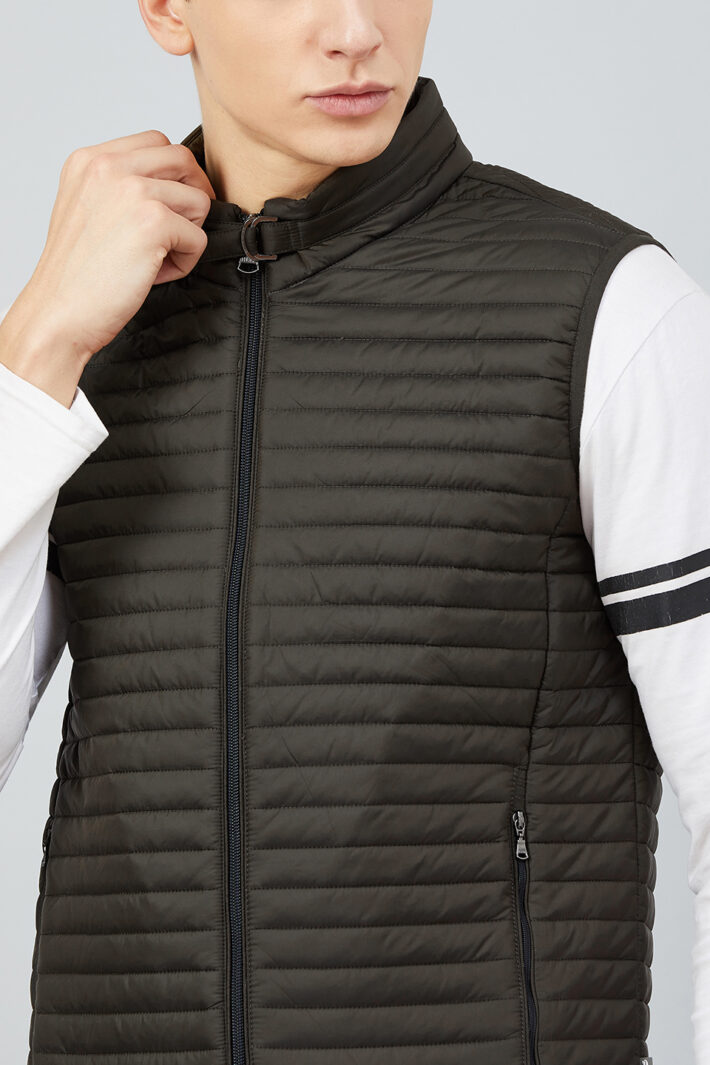 Fahrenheit Quilted Zip-Front Sleeveless Jacket