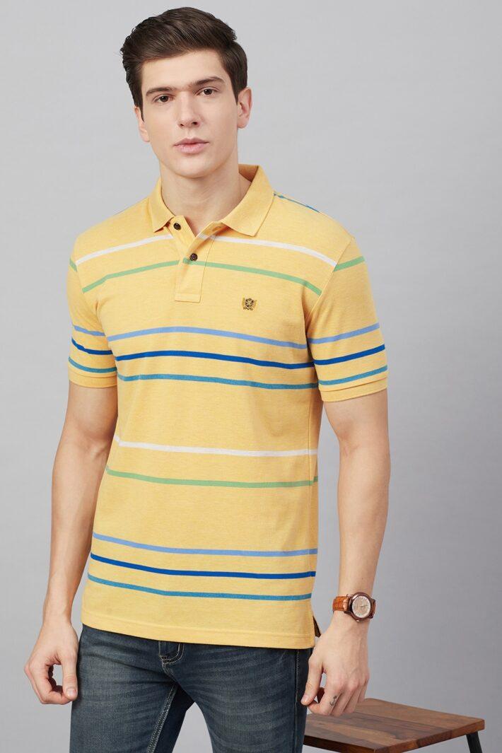 Fahrenheit Stripe Polo Shirt