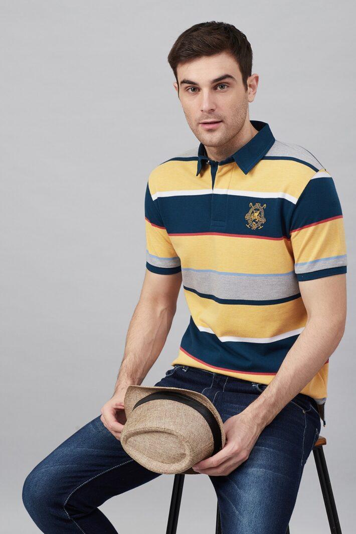 Fahrenheit Stripe Rugby Polo
